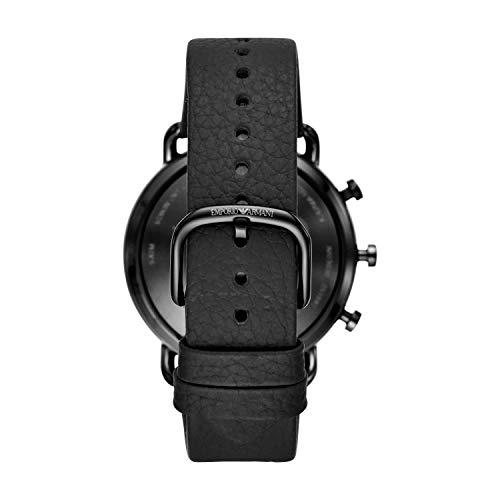 Emporio Armani Smartwatch Híbrido para Hombre de Connected con Correa en Piel ART3030