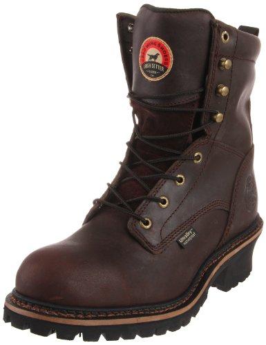 """Irish Setter Men's 83808 8"""" Steel Toe Work Boot, Brown, 12 EE US"""