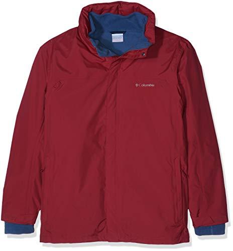 Columbia Wasserdichte Regenjacke für Herren, Mission Air Interchange Jacket, Polyester, Rot (Red Element), Gr. M, 1629192