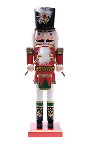 Traditional Soldier Drummer Nutcracker by Clever Creations | Hat and Drum |...