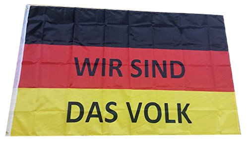 3 Stück Deutschland Fahne 150x90 cm WIR SIND DAS VOLK DDR Retro Flagge mit Metallösen
