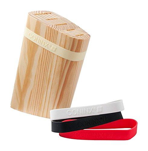 Coninx Messerblock Unbestückt Holz/Messerhalter Messerständer aus hochwertigen Kiefernholz gefertigt | Messerhalter für eine organisierte und aufgeräumte Küche