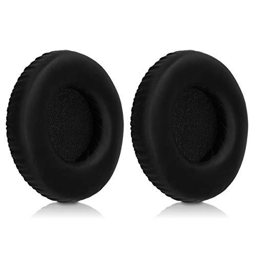 kwmobile 2x Auricolari di ricambio per AKG K271 MK II / K550 MK II - Cuscinetti sostitutivi cuffie Over Ear in similpelle per Headphones - nero