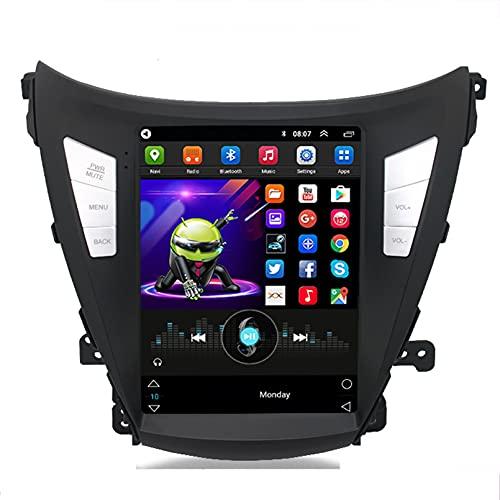 Android 10.0 9 Pulgadas Radio Satelital Para Automóvil Reproductor Multimedia Autoradio 2.5D Navegador GPS Para Hyundai ELANTRA 2014-2016 Soporte WiFi Bluetooth/Control Del Volante(Color:WIFI 2G+32G)