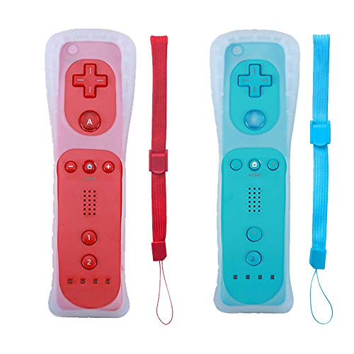 Tevodo Wii Remote Controller, Wii Wireless Controller Compatible with Wii Wii U Console (Red and Blue)