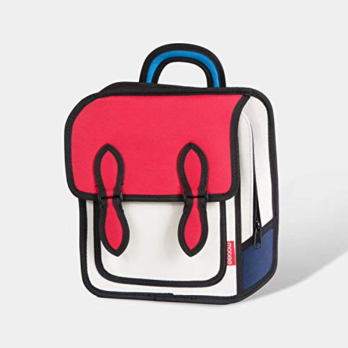 Upchenli Funny 3D Cartoon Mochila / 3D Drawing Bag Comic Vintage Mochila/Estudiante Femenina Laptop Bag,Red