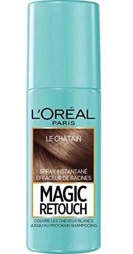 L'Oréal Paris Spray Instantané Correcteur de Racines & Cheveux Blancs, Magic Retouch, Châtain, 75 ml