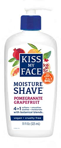 Kiss My Face Moisture Shave Shaving Cream, Pomegranate Grapefruit...
