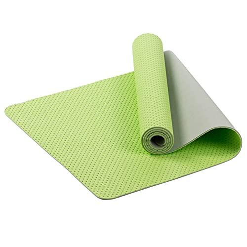 N\C Esta Esterilla de Yoga TPE ecológica está diseñada con una Estructura de Panal y Transpirable.Tamaño de 6 mm de Alta Densidad: 183 cm x 61 cm, con excelente Resistencia al desgarro y Agarre