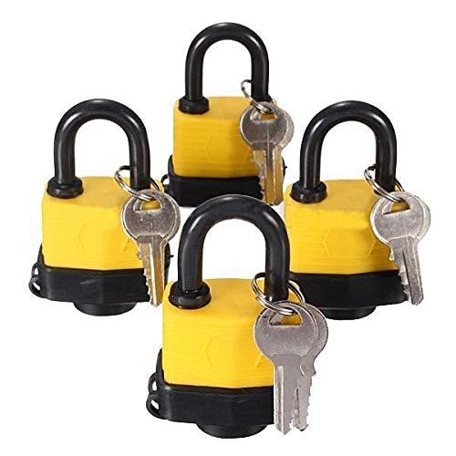 HCZ 4pcs 40 mm a Prueba de Agua la Misma Llave de Bloqueo Candado Laminado Pad Misma Clave Puerta de la Puerta