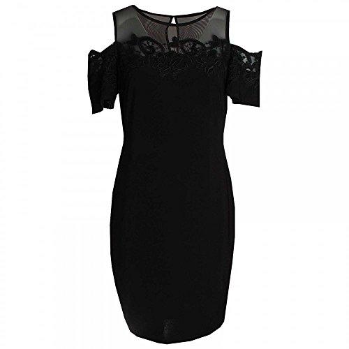 Frank Lyman Drop Sleeve Lace Detail Shift Dress 10 Black