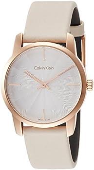 Calvin Klein City Quartz Beige Dial Ladies Watch