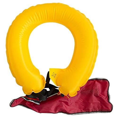 Vbest life Tragbare aufblasbare Schwimmweste für Erwachsene Automatischer Rettungsringgürtel mit reflektierenden Bändern und Pfeifschwimmgürtel zum Angeln Schwimmen(Automatic)