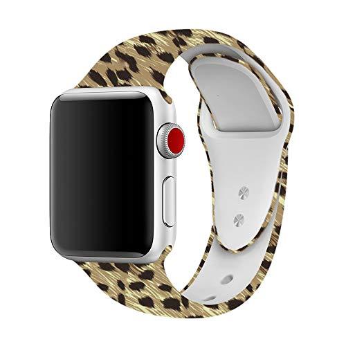 Yimzen Correa para Apple Watch Serie 3 de38mm y 42mm, Correa de Silicona Suave de Reemplazo para iWatch Serie 3,Serie 2,Serie 1, tamaño S/M, M/L