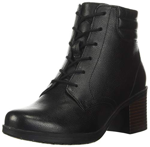 Clarks Women's Hollis Jasmine Boot, Black Leather, 90 M US