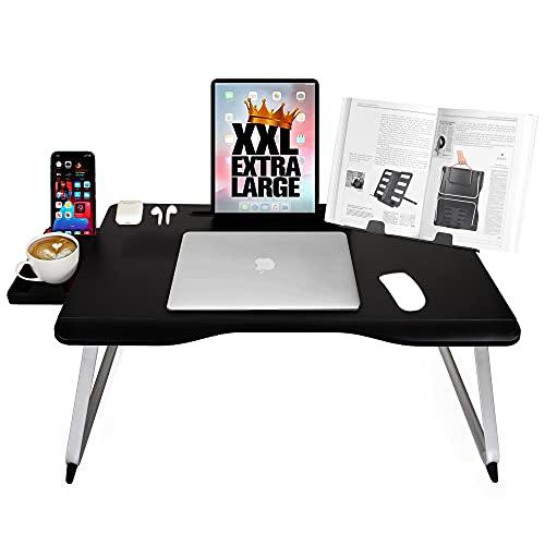 Cooper Mega Table [XXL support pliant ordinateur portable pour lit ou canapé] plateau de lit, écrire, travailler, étudier, lire, manger (onyx noir)