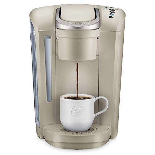 Keurig K-Select Coffee Maker, Single Serve K-Cup Pod Coffee Brewer, With Strength Control and Hot Water On Demand, Sandstone (Renewed)