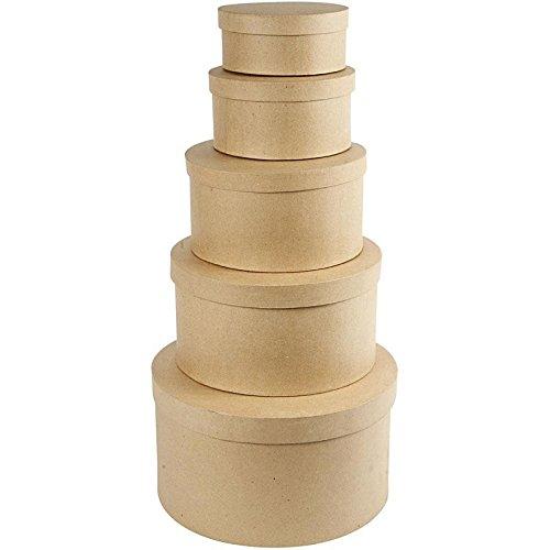 Boà®tes gigognes rondes, plus grand diam.: 35,5 cm, L, 5 assorti
