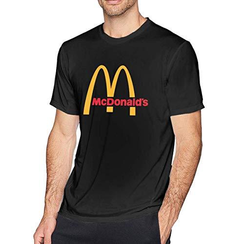AYYUCY Sportbekleidung Herren Kurzarmshirt Men's Casual McDonalds Logo Tee T Shirt Short Sleeve O-Neck Cotton T-Shirt Sports Fitness Tops Plus Size Shirts for Men