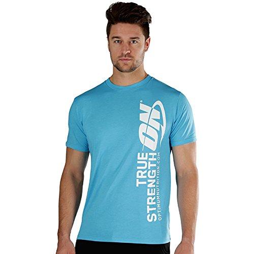 Optimum Nutrition: ON True Strength Short Sleeve T-Shirt for Men and Women, Blue, Large