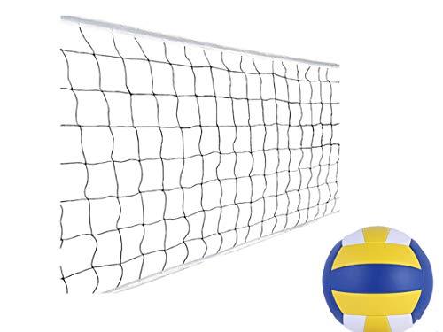 CMLLING Rete da pallavolo, rete da beach volley, portatile, per il cortile di cortile all'aperto.