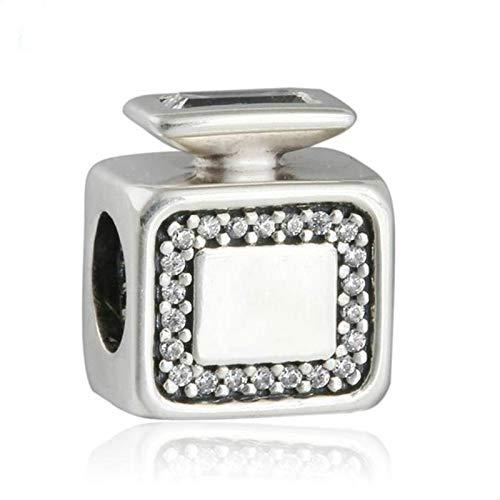 LIJIAN S925 Plata De Ley Firma Botella De Perfume Charm Pequeñas Cuentas Adecuado para Hacer Pulseras De 3 Mm