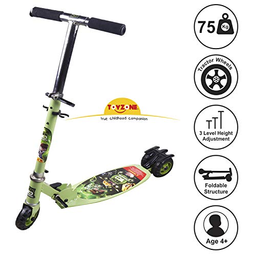 Toyzone Ben 10 Kids Skate Kick Scooter -Multicolour