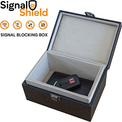 Faraday Autoschlüsselbox | Signalblockierende Faraday-Box für Autoschlüssel | sichere Aufbewahrung Auto Schlüsselbox mit eingebautem Faraday-Käfig | 100% Signalblockierung Faraday-Box
