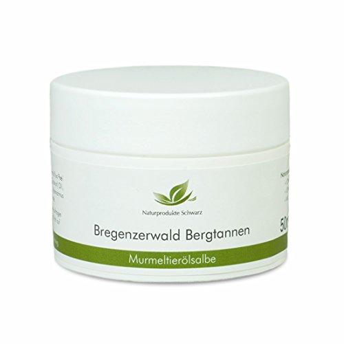 Naturprodukte Schwarz - Bregenzerwald Bergtannen - Murmeltieröl Salbe, 50ml