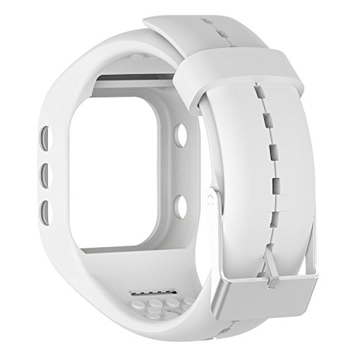 QGHXO Band for Polar A300, Soft Adjustable Silicone Replacement Wrist...