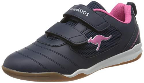 KangaROOS Nicourt V Sneaker, Dk Navy/Daisy Pink, 33 EU
