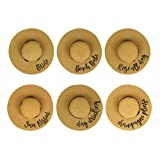 Bachelorette Straw Hats (10 Count (Pack of 1)