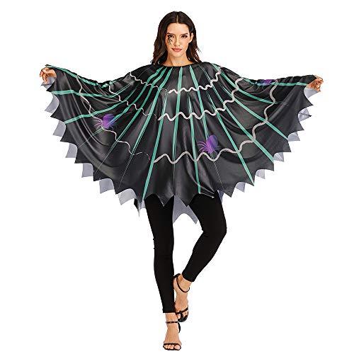 EraSpooky Disfraz de Tela de Araña Telaraña para Mujer Cosplay Fiesta de Halloween Traje Divertido para Adulto