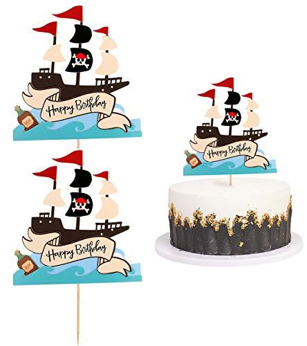 MU XI Decoraciones de Pasteles con temática Pirata, Regalos con temática Pirata para Hombres y Mujeres, decoración de Fiesta de cumpleaños, decoración de Fiesta de Halloween, etc.
