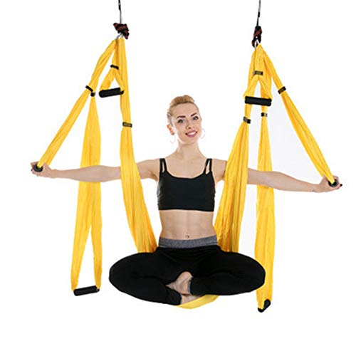 Fantastic Deal! Gohbqany-SP Yoga Hammock Anti-Gravity Aerial Yoga Hammock Stretch Yoga Hammocks Stre...