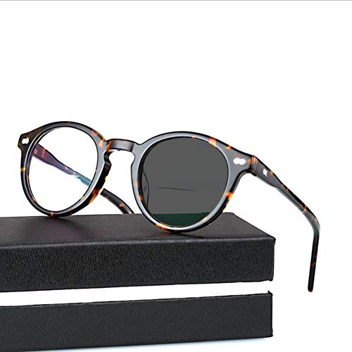 D&XQX kleurveranderende high-definition retro leesbril multifunctionele optische lichtgevoelige hars bril anti-straling en UV-bescherming