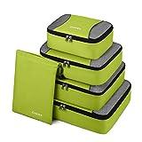 Gonex Packing Cubes 5 Set Travel Luggage Organizer with Shoe Bag (Light Green)