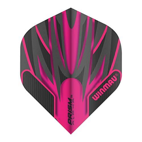 WINMAU Prism Alpha Black & Pink Extra Dicke Dart Flights - 1 Sätze pro Packung (3 Flights insgesamt)
