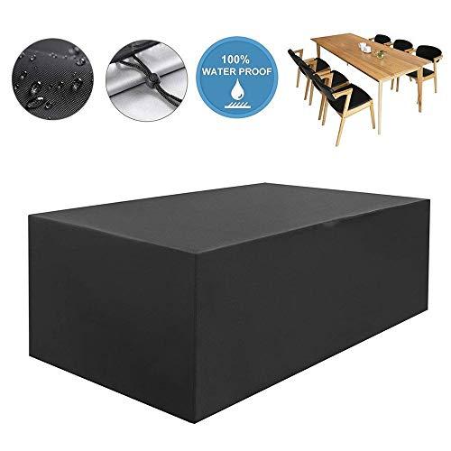 NINGWXQ Patio Muebles de jardín Sofá Cubiertas Impermeables Cubierta Rectangular protección del Equipo, paño de Oxford, Negro, 28 Tamaños (Color : Negro, Size : 80X80X120cm)