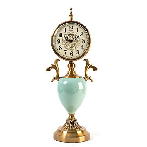 Yeeseu Reloj de mesa relojes de la familia de Mantel Relojes de la sala de estar dormitorio retro metal Mute reloj de escritorio Decoración conveniente Compatible with la oficina salón dormitorio (col