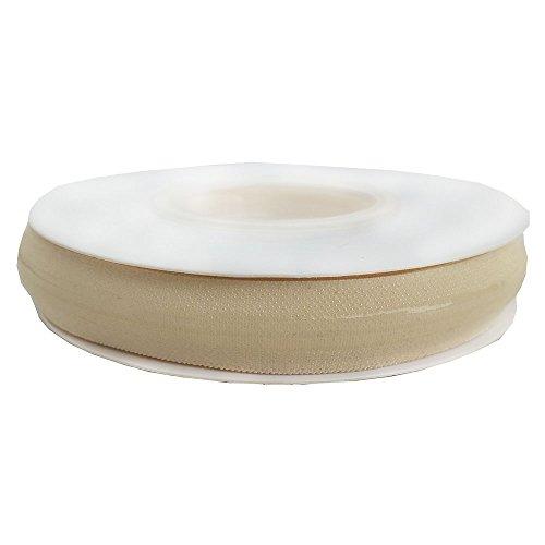 Elastisches Silikonband und elastisches Silikonband für Kleidung und Stirnband, 1,7 cm Breite pro Rolle 15mm & 5/8 inch beige