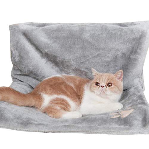 Cama con Radiador para Gatos Y Perros, Cama con Radiador Lavable para Gatos Cálida con Un Marco De Metal Resistente Y Duradero Y Una Cómoda Funda De Lana para Gatos E Incluso Gray