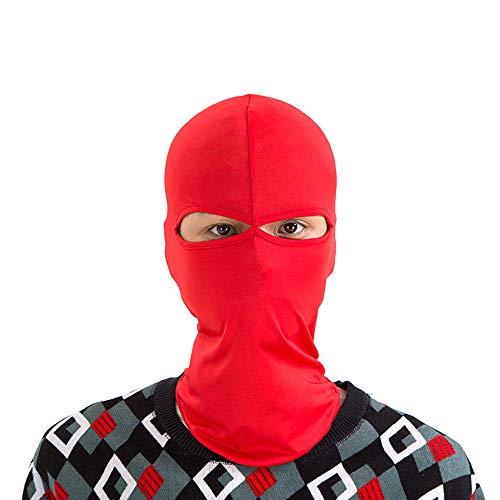 ZLZL Outdoor Maske Sport Doppel Loch Taktische Haube Fahrrad Fahren Winddicht Staubdicht Sonnencreme Seite Design Haube Motorrad,Red