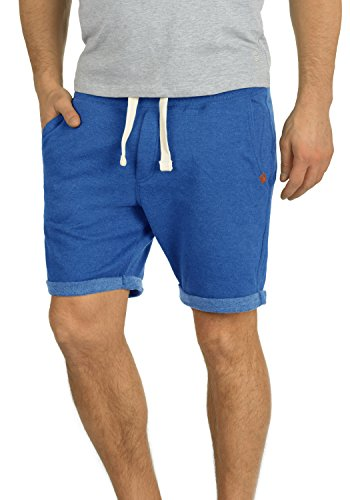 BLEND Timo Pantalón Corto Chándal Sweat- Bermudas para Hombre con Forro Polar Suave Al Tacto, tamaño:XL, Color:Great Blue (74651)