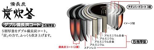 MITSUBISHI(三菱電機)『蒸気レスIH炊飯器備長炭炭炊釜(NJ-XS108J)』