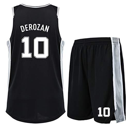 SHR-GCHAO Set Basketball-Trikots, Spurs 10# DeRozan Jersey, Basketball-Anzug für Kinder/Erwachsene, Breathable Ineinander greifen-Weste-Spitze Shorts, Geschenk für Fans,M