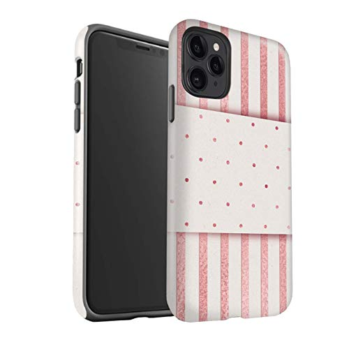 eSwish telefoonhoesje/Cover/Skin/IP-3DTBG / Rose Gold Pink Fashion Trend Collection Apple iPhone 11 Pro Max Thin Pin Stripes Dotty Band