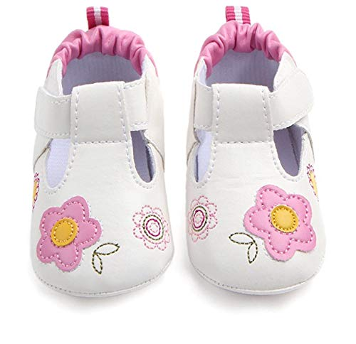 Chulis Baby Girl Shoes Size 3 Sneakers for Baby Girls 12-18 Months (3, White)