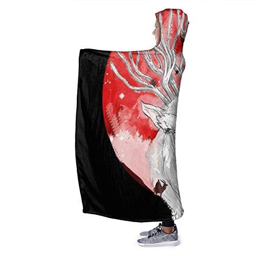 "Haushalt Wohnen Bettwäsche Hooded Blanket Wish Id Watched The Football Super Soft Fleece Flannel Throw Blanket Hoodie Fit Bed Sofa Wearable for Kids Women Men 80\""X60\"""