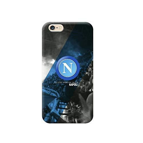 TheBigStock Cover Custodia per Tutti Modelli Apple iPhone x 8 7 6 6s 5 5s Plus 4 4s 5c TPU - G148 Logo Napoli, iPhone 6